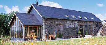 Barn conversion design with oak frame garden room