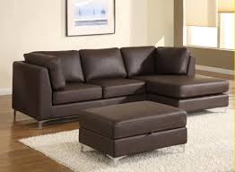 modern leather sofa. Angelo Leather Sectional Brown Color Modern Sofa M
