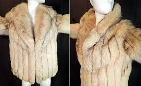 vintage the evans collection amber fox fur shawl collar winter coat jacket this fabulous fur winter