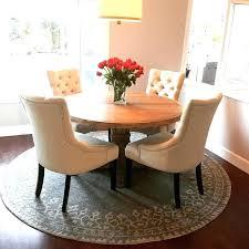 Round Rug Under Table Round Designs