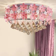 pink flower ceiling fixture