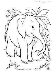 Elephant Coloring Page Printable Jungle Animal Coloring Pages Jungle