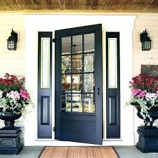 wood entry doors with glass exterior front en wrought iron double