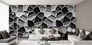 Tapeten Silber Grau Schwarz Weiß
