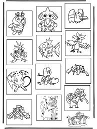Pokemon Memory Kleurplaat Pokemon