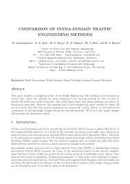 PDF) Comparison of intra-domain traffic engineering methods