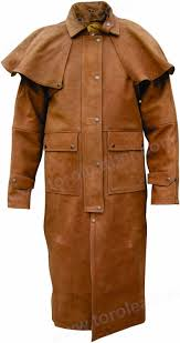 leather aussie drover coat buffalo hide duster nubuck brown 1 of 6only 5 available