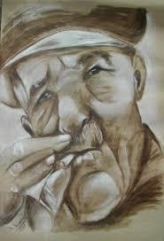 Artwork >> Nadine Nicaise >> old man wolf   Artwork, Nadine, Wolf