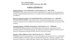 Example Resumes For Teachers Example Resume Teacher Threeroses Us
