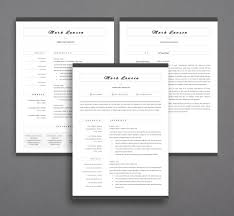 Minimal Resumeages Cv Template For Word Twoage Within