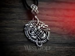 details about round celtic wolf knotted pendant 925 sterling silver wolves viking norse