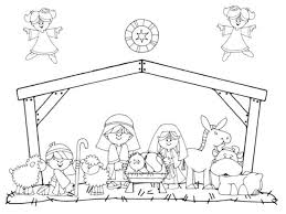 nativity coloring sheet away in a manger colouring in pinterest sunday school craft