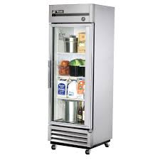 Glass Refrigerator True T 19g Ld 27 1 Section Glass Door Reach In Refrigerator With