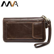 mva men wallets clutch mens wallet genuine leather wallets with coin purse large male clucth purse bag cell phone leather wallet lost wallet wallets