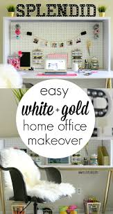 home office makeover. Brilliant Office Easy White And Gold Home Office Makeover On A Budget For Home Office Makeover