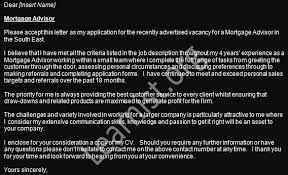 Mortgage Adviser Job Application Cover Letter Example - Learnist.org