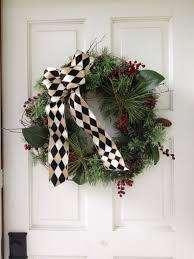 Ballard Designs Christmas Wreaths Christmas Wreath 2014 Ballard Design Black And Khaki Ribbon