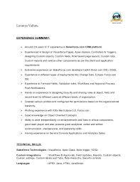 Salesforce Experienced Resumes Resume