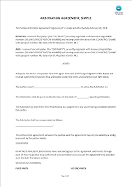 This arbitration agreement template applies the most relevant procedures depending on the dispute type, including options for commercial, consumer, employment, labor union, and construction disputes. Arbitration Agreement Templates At Allbusinesstemplates Com