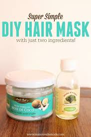 argan and coconut oil hair mask