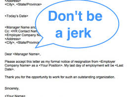 Dont Be A Jerk How To Write A Classy Resignation Letter Squawkfox