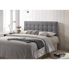 gray full headboard. Beautiful Headboard Poly And Bark Gray Guilia SquareStitched Headboard Queen Size Throughout Full Headboard R