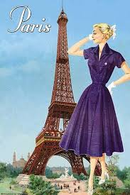 Pierce, Sara Model in front of the Eiffel Tower Poster Print by Sara Pierce  - Item # VARBLL0587212624