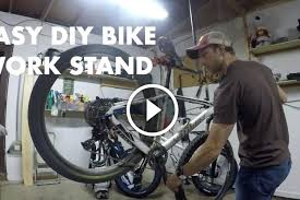 build bike stand watch how to build your own bike work stand in just minutes diy