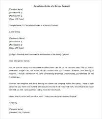 Termination Letter Of A Service Contract Template Sample Employment ...