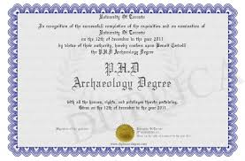 Phd Degree P H D Archaeology Degree