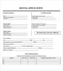 Sample Rental Applications 15 Application Templates
