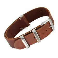 20mm 22mm genuine leather nato strap watch bands for most watches with steel rings the band watch band watches from fashion s