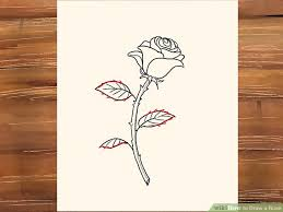 Small Picture 3 Ways to Draw a Rose wikiHow