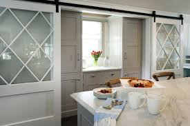 pantry with barn doors transitional
