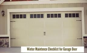 garage door maintenanceChecklist For General Garage Door Maintenance and Service
