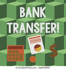 Handwriting Text Bank Transfer Concept Meaning When The Money Is Sent From One Bank Account To Another Computing Dollar Investment In Gold And