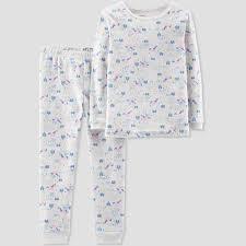 Baby Girls 2pc Unicorn Organic Cotton Pajama Set Little