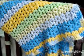 V Stitch Crochet Pattern Best Crochet Cluster VStitch Baby Blanket Free Crochet Pattern My