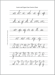 Capital And Lowercase Cursive Letters Chart Capital Cursive Alphabet Alfreddean Club