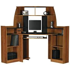 corner office desk wood. Unfinished Corner Desk Office Table With Wooden Laptop Drawers And Small Cabinet Hutch Wood