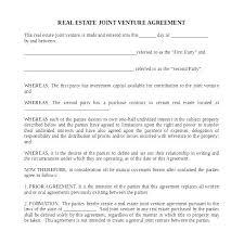 Partnership Agreement Between Companies Template Free Real Estate Partnership Agreement Sample