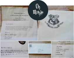 diy hogwarts acceptance letter michelle from oh mishka