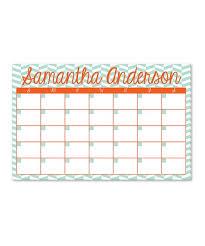 Ann Page Mint Orange Personalized Monthly Desk Calendar
