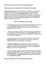 Example Of Drug Abuse Introduction Essay Www Moviemaker Com