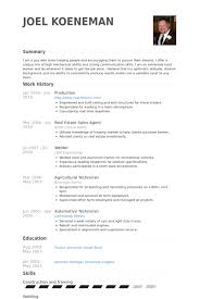 Production Resume Samples Visualcv Resume Samples Database