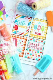 Summer Gift Tags Free Summer Popsicle Gift Tags Giggles Galore