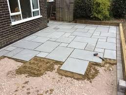 natural stone patio installation