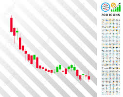 Bitcoin Candlestick Chart Candlestick Chart Falling Slowdown Pictograph With 7 Hundred