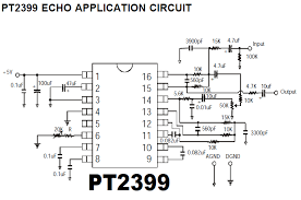 diy audio circuits pt2399 digital delay analog echo ic pt2399 echo application circuit