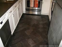 dark brown wood floor wood kitchen counter along dark wood effect vinyl floor tiles